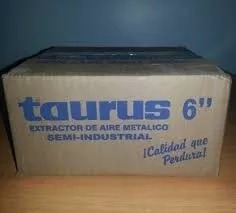 extractor de aire taurus 6 pulg. metálico semi-industrial