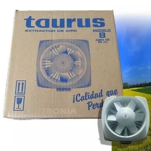 extractor de aire taurus 8 pulg. modelo: ex200-s
