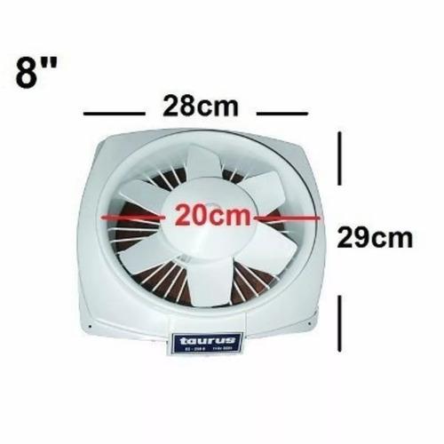 extractor de aire taurus 8 pulgadas plástico modelo: te200