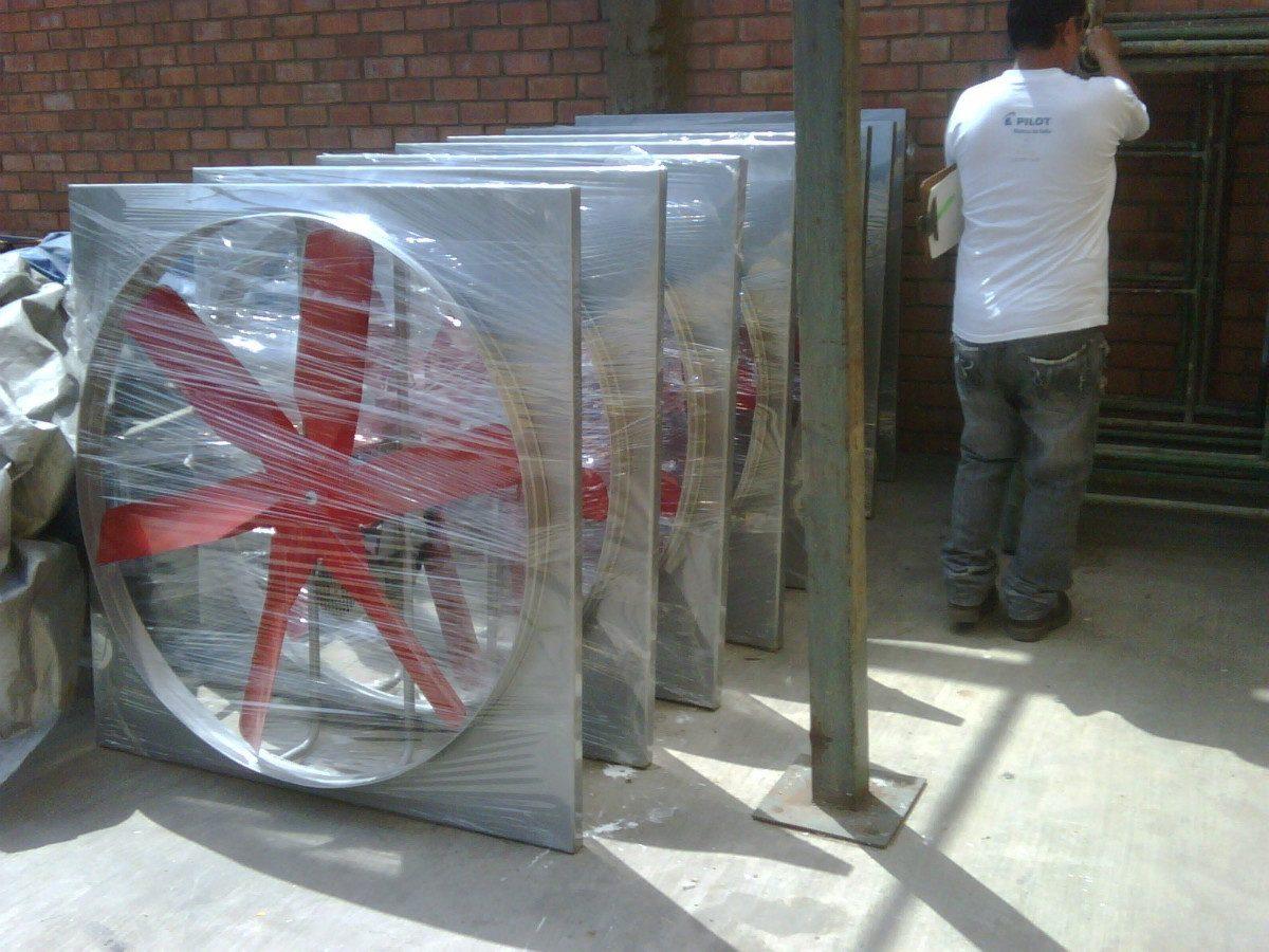 Extractor De Aire Ventilador Helice 6 Aspas Industrial 1hp