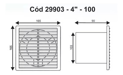 extractor de baño 4  llanos - caudal 110 pintumm