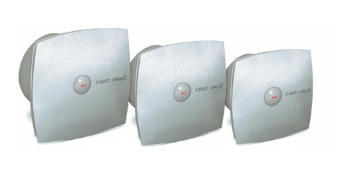 extractor de baño cata x-mart matic 10 acero 6 cuotas