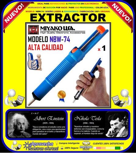 extractor de estaño miyako usa / modelo nbw-74 / original /