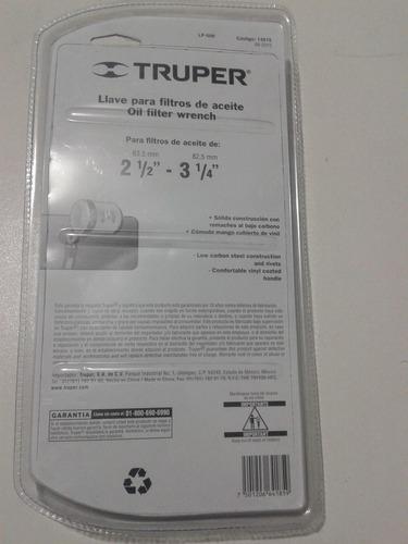 extractor de filtro de aceite para autos marca truper