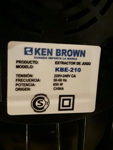 extractor de jugo ken brown