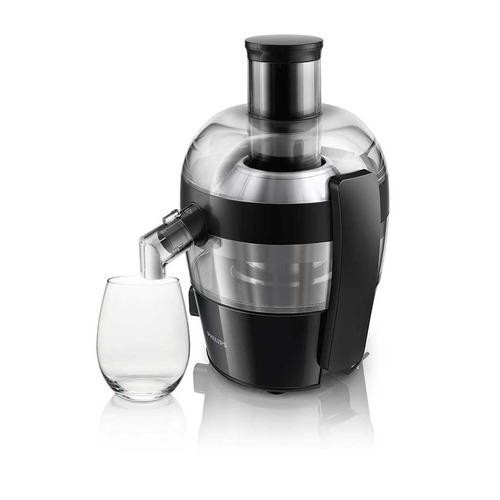 extractor de jugo viva c hr1832/06 philips med negro 500w