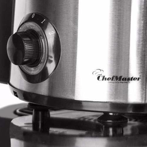 extractor de jugos frutas y verduras 850 watts chef master