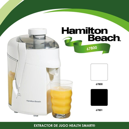 extractor de jugos health smart blanco hamilton beach 67800