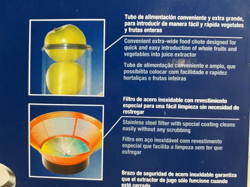 extractor de jugos oster boca ancha incluye jarra 120 v 600w