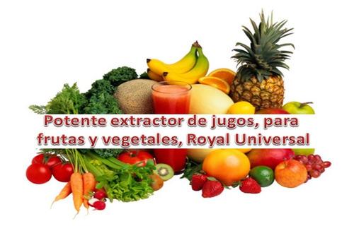 extractor de jugos para frutas y vegetales