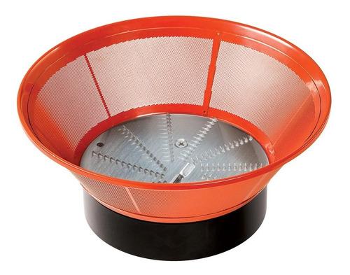 extractor de jugos rojo y filtro de acero inoxidable