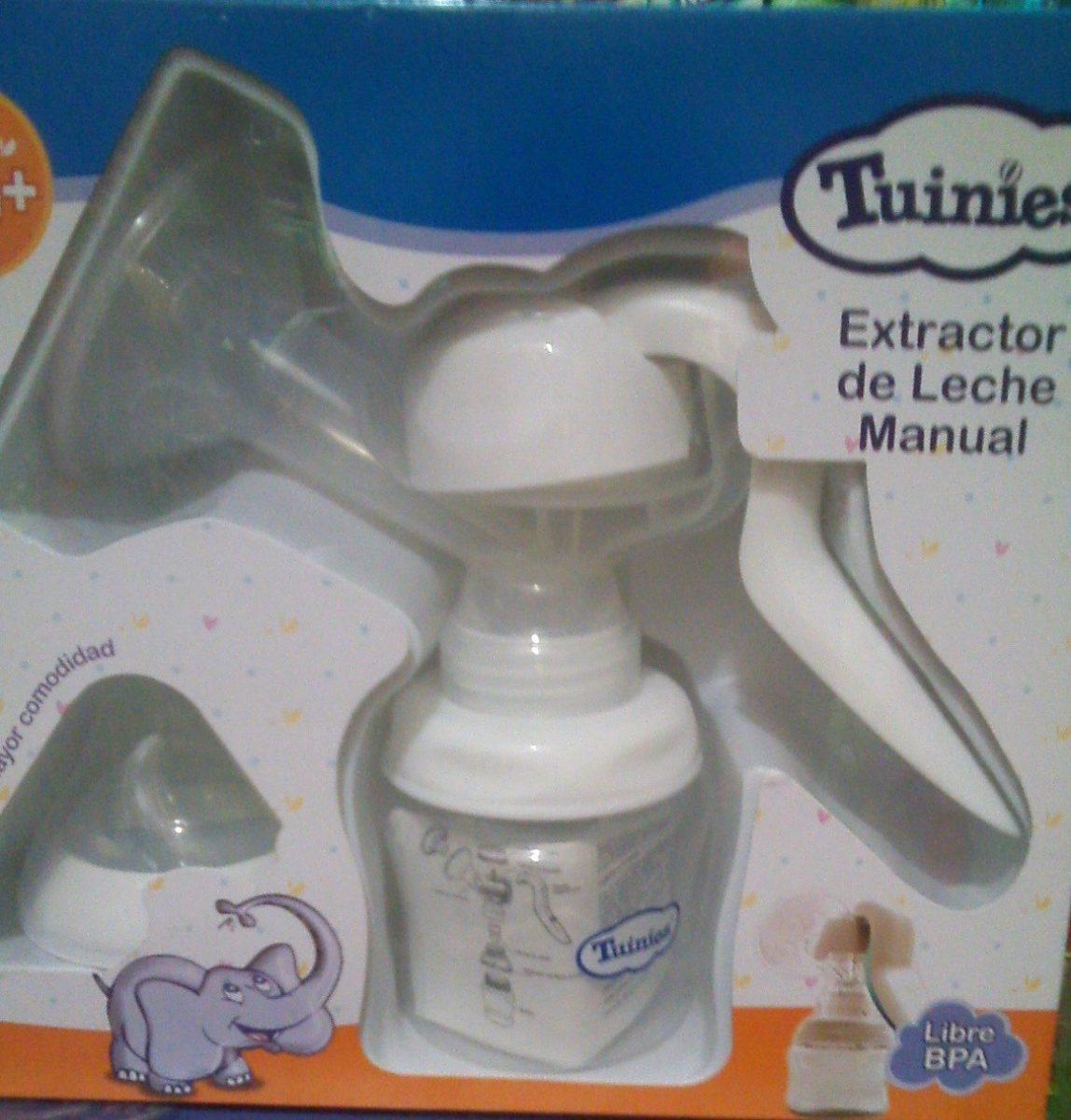 Usando extractor de leche manual