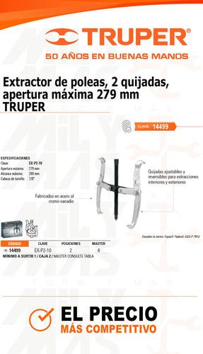 extractor de poleas 3 quijadas 83mm truper cod. 14499