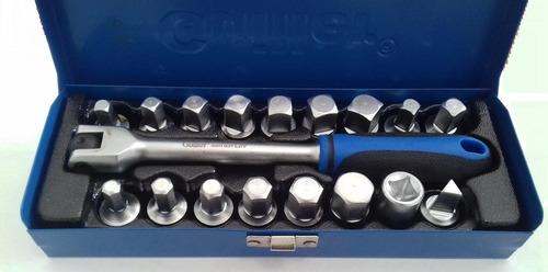 extractor de tapones de carter de aceite 18 pzs 3/8 guiller