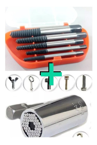 extractor de tornillos y copa universal