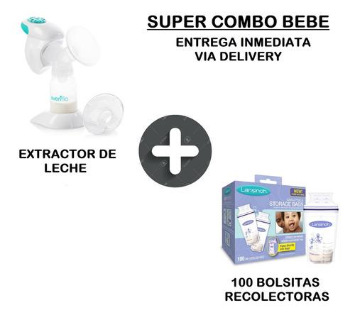 extractor electrico + 100 bolsas leche materna + delivery