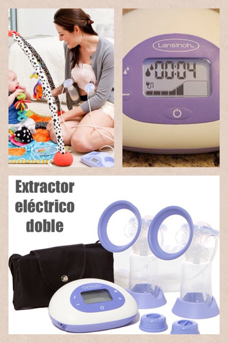 extractor eléctrico doble lansinoh lactancia materna