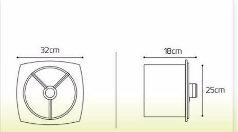 extractor hydra vf 250  negro gris blanco cocina baño