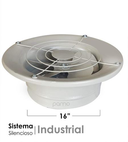 extractor industrial 16   alta calidad metálico, silencioso