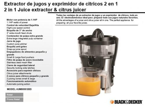 extractor jugos y exprimidor de cítricos jm8000sbd