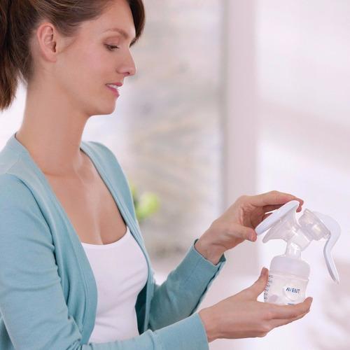 extractor manual de leche materna avent comfort