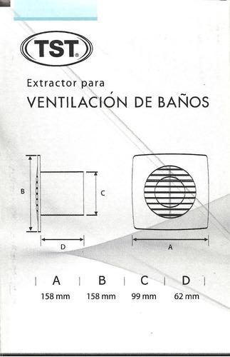 extractor para baños 4 pulgadas tst