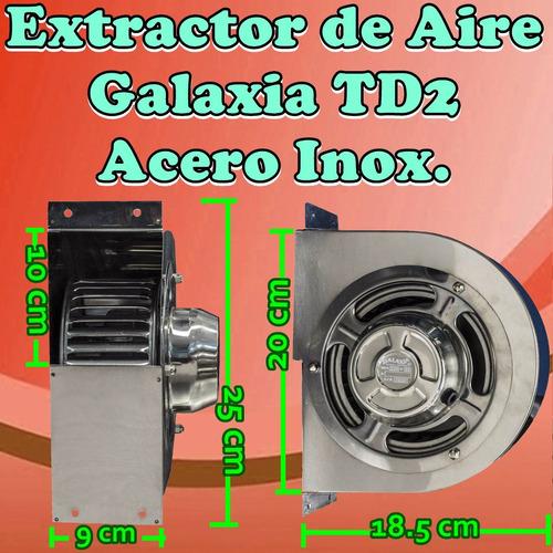 extractor turbina baño oficina ambiente galaxia td2 acero