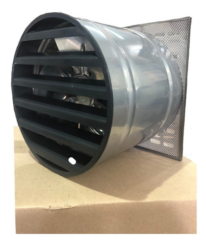extractor / ventilador de 20cm rejilla de acero inoxidable