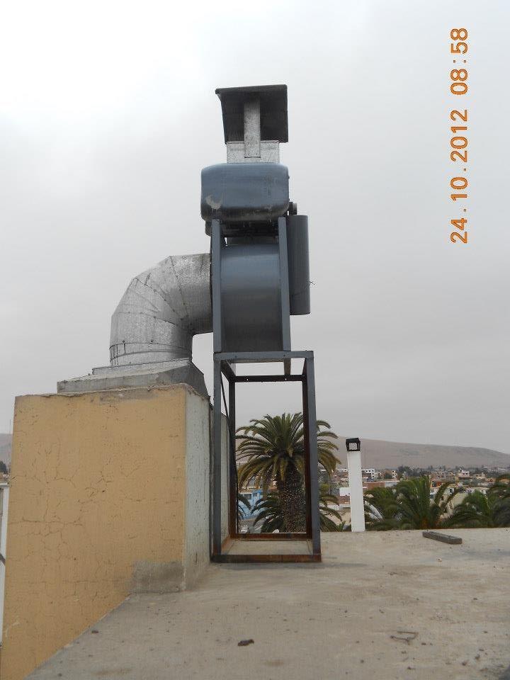 Extractores de aire para campana de cocina e industrial for Instalacion cocina industrial