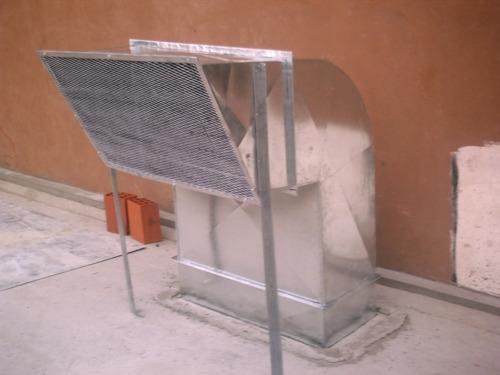 extractores eólicos, ventilación industrial, ductos, aire