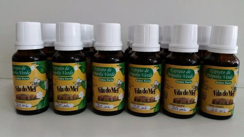 extrato de própolis verde 2 frascos + 2 mel 500 g