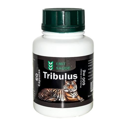 extrato de tribulus 06 potes - 60 caps 600mg - atacado