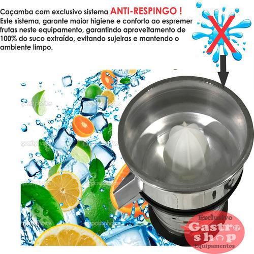 extrator espremedor sucos laranja grande inox copo 3l frete