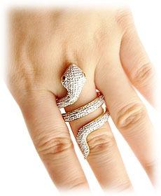 extravasar jóias anel serpente ouro 18 quilates