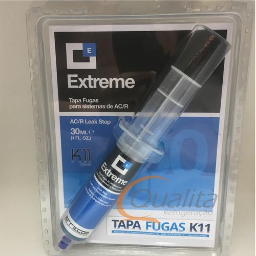 extreme k11 tapa fugas ar condicionado e refrigeração 30ml