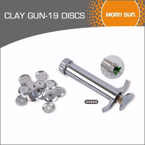 extrusor eyector metalico 19 discos p/masa arcilla + regalo