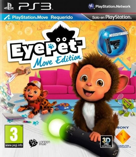 eyepet move edition fisico ps3 + envio gratis