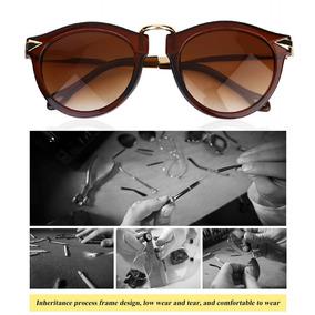 0a935eb9c Eyewear Óculos De Sol Redondo Unisex Mulheres Homens Óculos