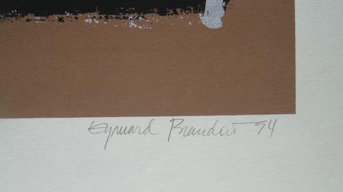 eymard brandão - composição - belíssima serigrafia assinada