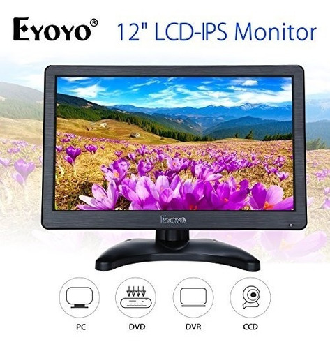 eyoyo 12 pulgadas hd 1920x1080 ips pantalla de monitor lcd h