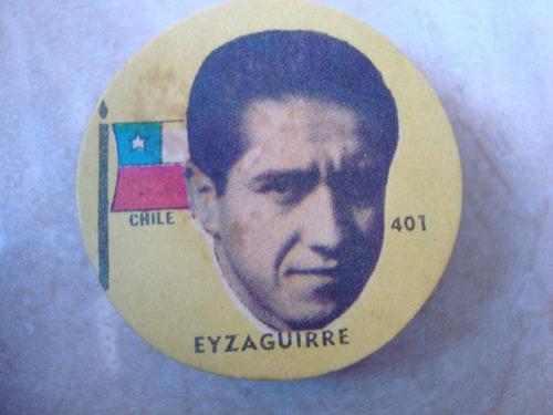 eyzaguirre 401 chile figurita futbol album idolos 1962