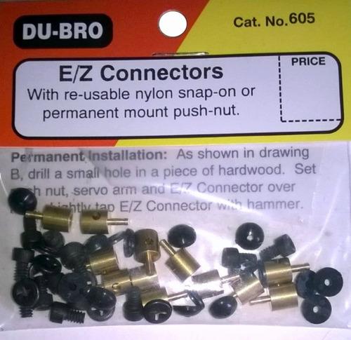 e/z conectores dubro aeromodelismo servos - paq. 12 un. r/c