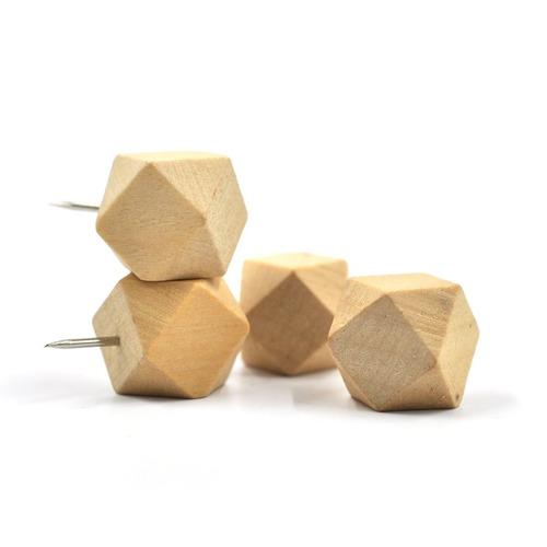 ezakka 30pieces madera del empuje geométrico del pulgar tach