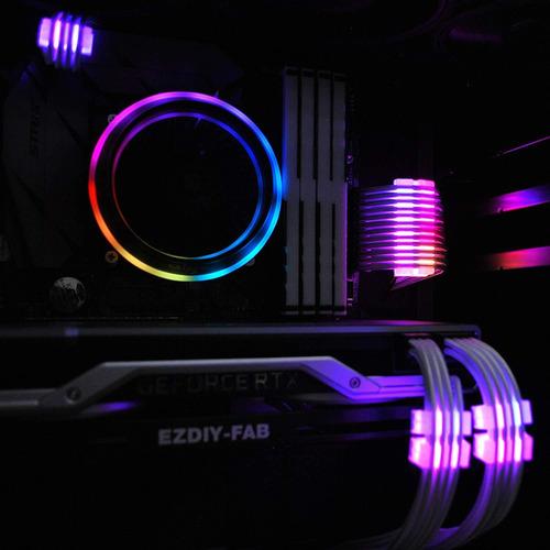 ezdiy-fab rgb cable peine - 2x 24-pin y 6x 8-pin, led rgb co