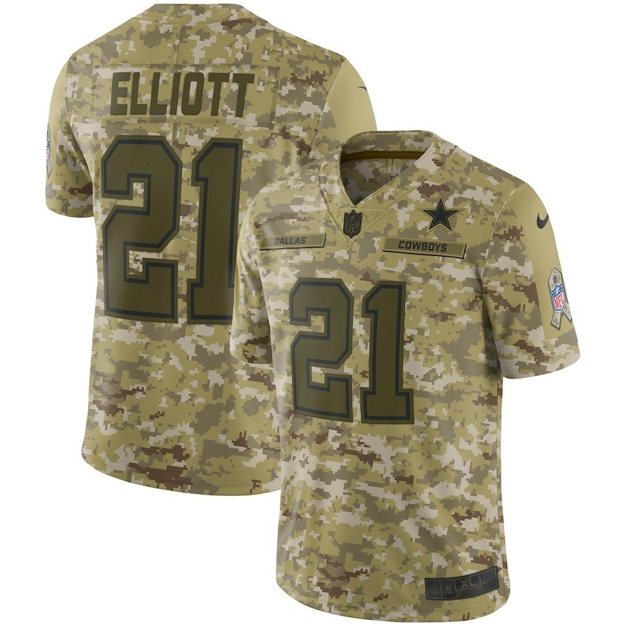 new concept f3c69 61ed2 Ezekiel Elliott Dallas Cowboys Nike Salute To Service Jersey