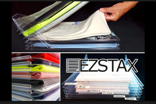 ezstax organizador de playeras, camisas camisetas y doblador