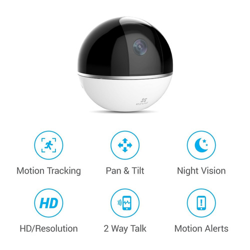 ezviz mini 360 plus 1080p hd cámara de seguridad para el hog