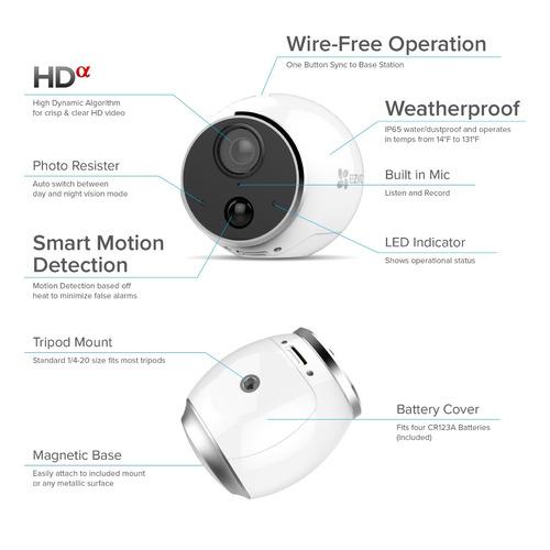 ezviz mini trooper wire-free indoor - sistema de cámara de s