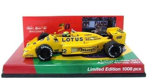 f-1 lotus 99t (1987) ayrton senna 1/43 minichamps numerada