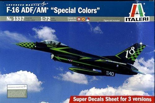 f-16 adf/am special colors 1/72  italeri no 1337